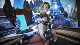 Widowmaker ride as Nova in the Blizzworld